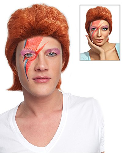 Ziggy Stardust Wig Costume Ziggy Rock Stardust Wig Costume Bowie Wig (The Labyrinth David Bowie Costume)
