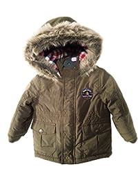 Baby Little Boys Coat Thick Winter Warn Fleece Hooded Outerwear Jacket Green