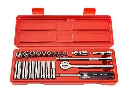 TEKTON 11451 1/4-Inch Drive Socket Set, Inch, (22 Piece Tapered)