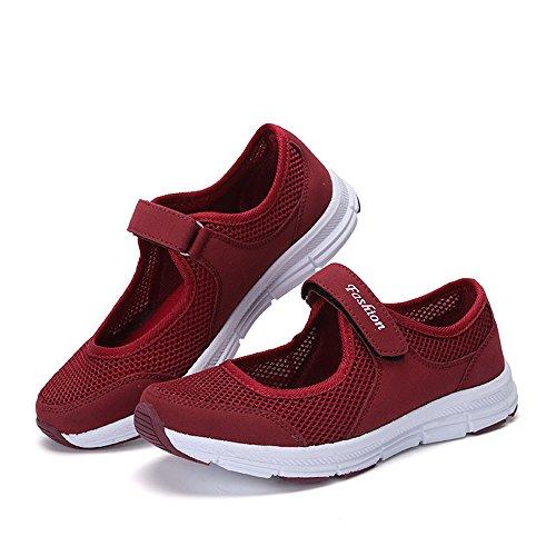 da sandali da estive sneakers Sportive Rosso Scarpe Sandali donna scarpe Basse Scarpe donna basse scarpe estate eleganti beautyjourney donna donna corsa Ginnastica SgwOqWA