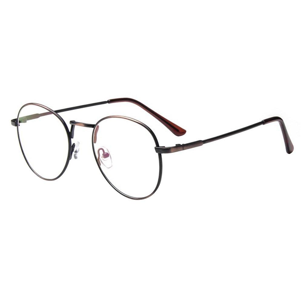 forepin reg  Lunette de Vue Femme Homme Unisex Vintage Retro Monture  Metalique Mode Fashion Eyeglasses df305631323d