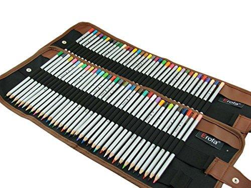 Erofa® Ensemble de 72 Crayons de couleurs professionnel de haute qualité