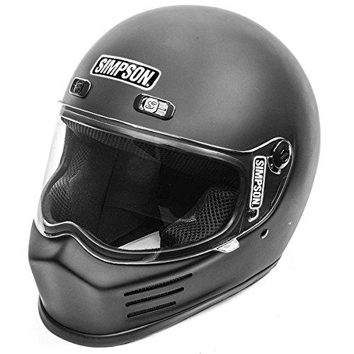 (Simpson MSB15XL8 Street Bandit Motorcycle Helmet (X-Large Matte Black))