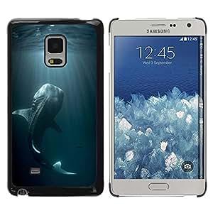 Caucho caso de Shell duro de la cubierta de accesorios de protección BY RAYDREAMMM - Samsung Galaxy Mega 5.8 9150 9152 - Fish Blue Nature Dive Monster
