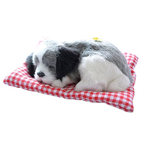 tion Animal Doll Plush Sleeping Dogs with Sound Perfect Birthday Gift Doll Decorations Toy, Color Gray ()