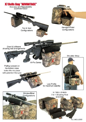 BULLS BAG #0007-APG X7 ADVANTAGE Advanced PRO-Shooting Rests 'SYSTEM' New APG-Real Tree¨ Camo/Suede Complete Tactical
