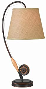 "Kenroy Home 32193ORB Fly Rod Table Lamp, 27.5"" x 12"" x 28"""