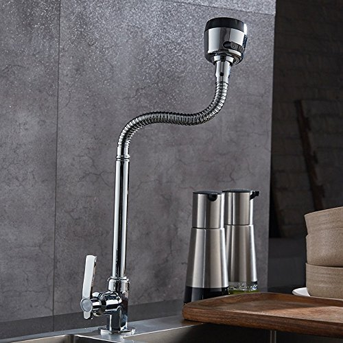 Dhpz Kitchen Mixer Kitchen Single Cold Wash Basin 304 Stainless Steel Sink Kitchen Sink Rotating, A by Dhpz (Image #2)