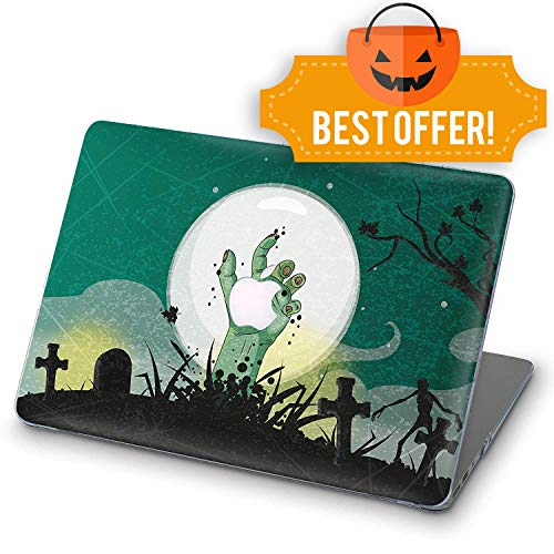 (ZVStore MacBook Case Art Design Protective Shell Sleeve Plastic Hard Pro Case MacBook Printed Bottom Halloween/Zebra (Pro 15 (A1707 & A1990) 2016 2017 2018, Halloween Scene Eerie)