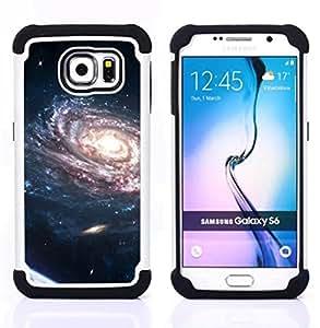 BullDog Case - FOR/Samsung Galaxy S6 G9200 / - / Space Planet Galaxy Stars 37 /- H??brido Heavy Duty caja del tel??fono protector din??mico - silicona suave