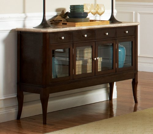 - Steve Silver Marseille Sideboard w Marble Top