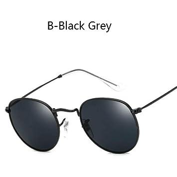 ZHOUYF Gafas de Sol New Round Color Lens Metal Sun Glasses ...