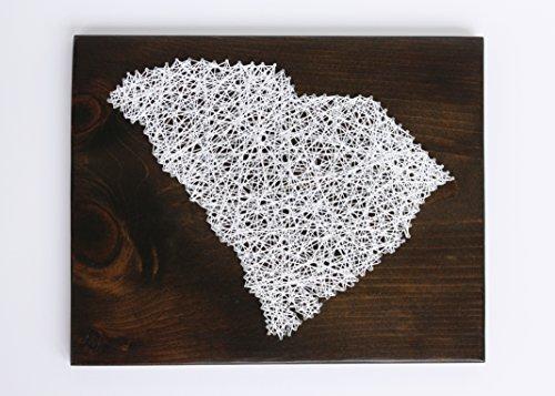 (Statement String Art South Carolina DIY String Art Kit, Clemson Art, Home Art, Adult Crafts Kit, Palmetto Tree, DIY Gift, String Art Pattern)