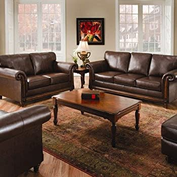 Simmons Upholstery 8001 San Diego Bonded Coffee Leather Queen Sleeper Sofa