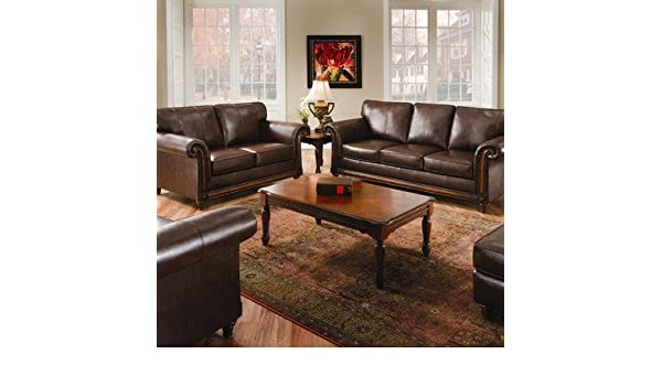 Simmons Upholstery 8001 San Diego Bonded Coffee Leather Queen