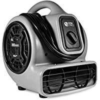 CFM Pro Air Mover Carpet Floor Dryer 3 Speed 1/5 HP Blower Fan with 2 Outlets - Grey - Industrial Water Flood Damage Restoration