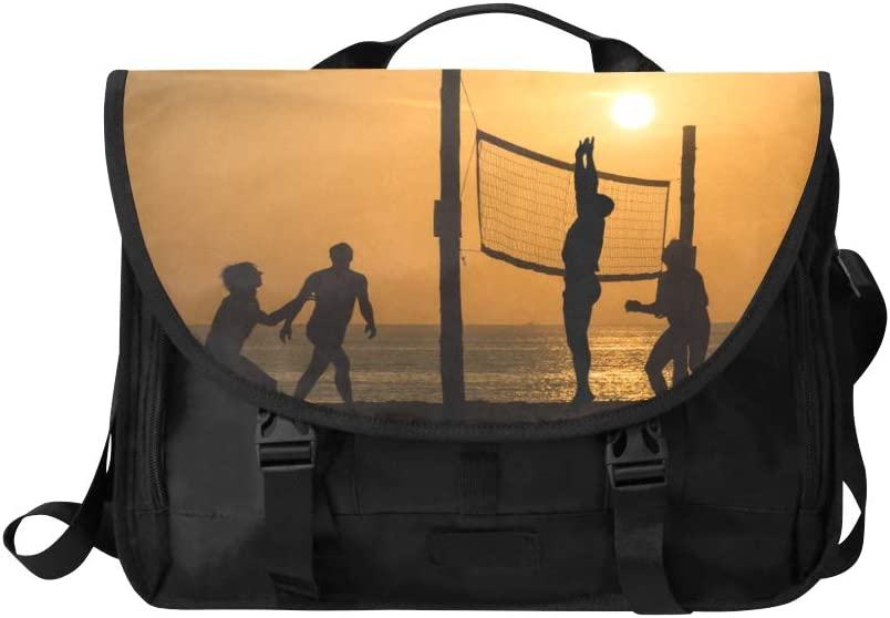 Laptop Briefcase Handbag Beach Volleyball Player Multi-Functional Ladies Fashion Bags Fit for 15 Inch Computer Notebook MacBook