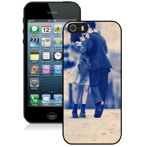 Coque,Fashion Coque iphone 5S Anne Hathaway Kiss Noir Screen Cover Case Cover Fashion and Hot Sale Design