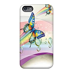 Apple Iphone 6 USt19857ense Support Personal Customs High-definition Butterfly Colors Pattern Great Hard Phone Case -LeoSwiech