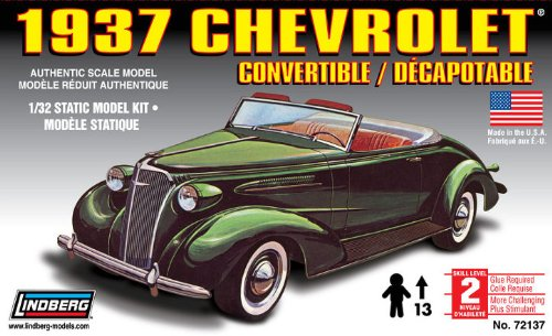 1937 Chevrolet Convertible Authentic Scale Model 1/32 Model Kit Made in USA