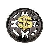 Dollar Sign Gold Die Cut Vintage Spinner Belt