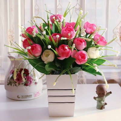 SYHOME Flores artificiales Plantas, Habitaciones Son ...