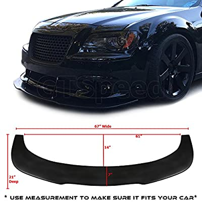 """GT-Speed made Universal Valance V2 PU Front Bumper Lip Flat Splitter Plate Under Panel Diffuser Chin Spoiler BMW E60 BENZ C250 C300 (MEASURE YOUR BUMPER BEFORE PURCHASE - 67""""L x 21""""D): Automotive"""