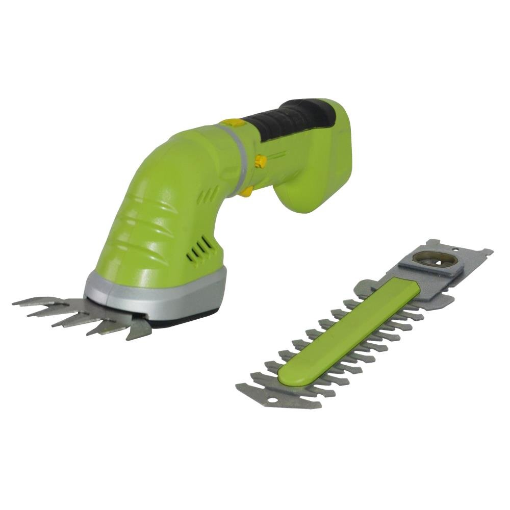 Upgraded Version SereneLife Handheld Hedge Trimmer | Cordless Hedge Trimmer | Push Grass Cutter Shears W/ 7.2V Rechargeable Batteries | Electric Hedge Shrubber Trimmer | Changeable Blades (PSLGR14)