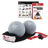 Sfera Deep Tissue Yoga Massage Balls, Trigger Point and Myofascial Therapy. 2 (2.5 inch) Firm Balls w/mesh Bag, (RLZ2 MED - Gray)