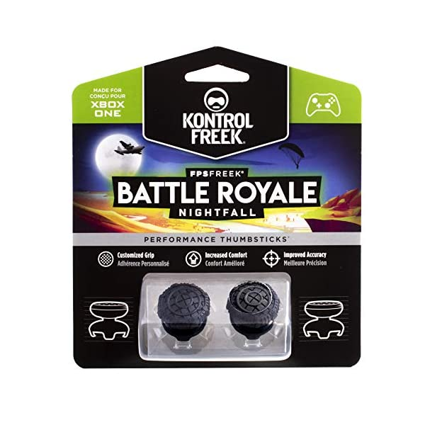 KontrolFreek FPS Freek Battle Royale Nightfall Performance Thumbsticks for Xbox One | Performance Thumbsticks | 2 High… 1