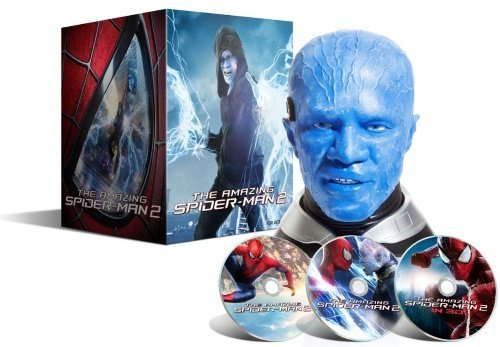 The Amazing Spider-Man 2 Limited Electro Head Collectors Edition Movie Gift Set[3D Blu Ray + 2D Blu Ray + Exclusive Bonus Disc] [Region Free] [Nordic Import] Blu Ray B01I05T09I