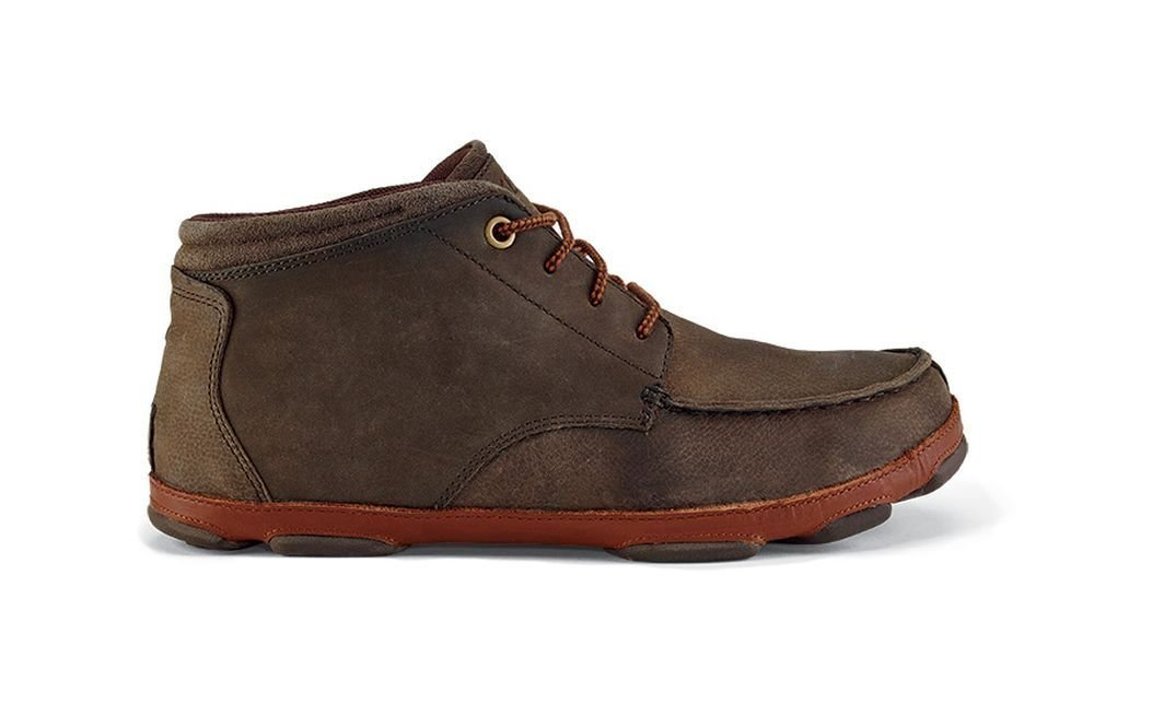 OLUKAI Hamakua Shoe - Men's Dark Wood/Toffee 10