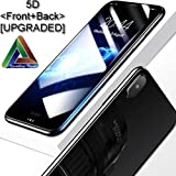 SPARKLING TRENDS 5D Full Glue Edge to Edge Front and Back Tempered Glass for iPhone X / XS (Black)