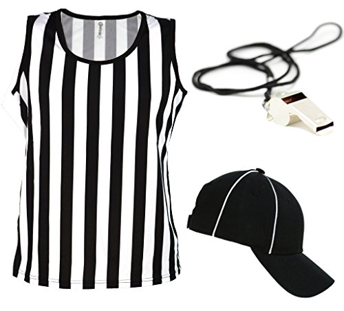 Referee Tank Top for Women | Referee Uniform Top for Waitresses, Costumes, More! - Ref Set CA1250 S CA2099 Vel S/M RW1000