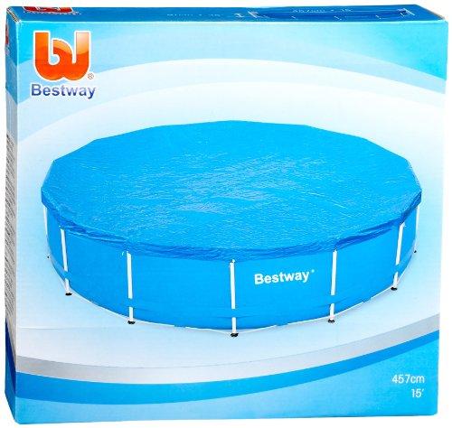 Bestway 58038 funda para piscinas color azul 457 cm for Funda para piscina