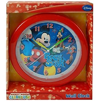 Disney, Nickelodeon, Dora, Sonic, Monster High, Angry Birds Round wall Clock free standard shipping within USA Red Mickey Mouse
