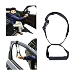 Car Cane Standing Aid Assistive Devices Helper Portable Car Door Handle Grab Transfer Accessories for Elderly (Black)