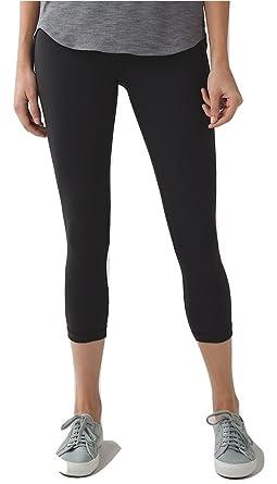 288ba421b Lululemon Wunder Under Crop III Full On Luon Yoga Pants Black (2)