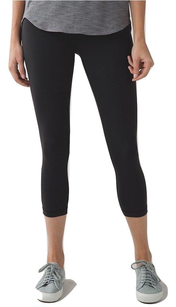 Lululemon Wunder Under Crop III Full On Luon Yoga Pants Black (2)