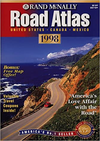 Canada Road Map Book Rand McNally Road Atlas 1998: United States, Canada, Mexico: Rand