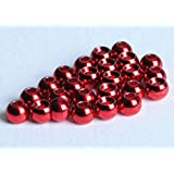 """Tungsten Beads for Fly Tying - 100 Pack (Metallic Red, 3.8 mm (5/32""""))"""