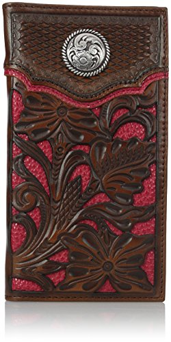 Nocona Belt Co. Men's Nocona Red Floral Inlay Rodeo, One Size