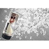 Hb - 3 Canons à confettis mariage blancs
