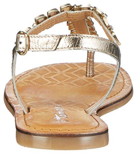 Tamaris 28155, Sandalias con Tira a T para Mujer Plateado (Gold Comb 943)