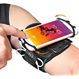 BOVON 360°Rotatable Phone Armband, Super Breathable Sports Arm Band for iPhone X/XS/XR/XS Max/8//7/6/6S Plus, Galaxy S10/S9/ S9 Plus/S8, Running Armband with Key Holder for Hiking Biking (Black)