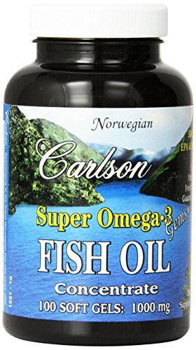 Carlson Omega 3 Concentrate 1000mg Softgels