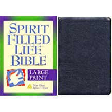 Holy Bible: Spirit Filled Life Bible, New King James Version, Large Print, Black Bonded Leather