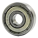 Nrpfell 626Z double sealed ball bearings 6x19x6mm carbon steel Silver