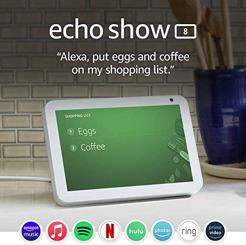 Echo Show 8 -- HD sensible show with Alexa – keep attached with video calling - Sandstone