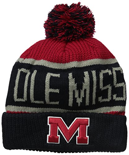 '47 NCAA Mississippi Old Miss Rebels Calgary Cuff Knit Hat, One Size, Red